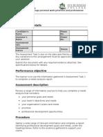 BSBWOR501A - Assessment Task 2