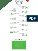 Realizacja expose, stan prac rok po wyborach parlamentarnych - infografika