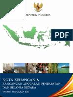 Nota Keuangan RAPBN 2013