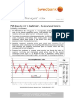 Purchasing Managers´Index - October 1, 2012