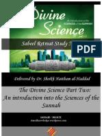 {Sabeel} Divine Science - Part Two Retreat Notes