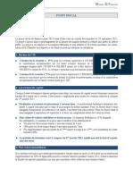 Actualité fiscale, Projet de loi de finances pour 2013, Marne Et Finance