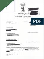 Röthlin vs Steffny Urteil Kammergericht