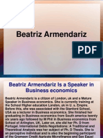 Beatriz Armendariz Is a Speaker in Business economics