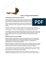 History of Chaga in Herbal Medicine