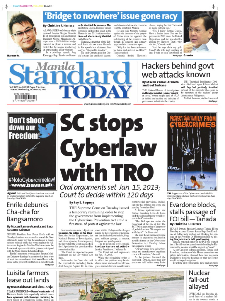 Manila Standard Today - Wednesday (October 10, 2012 ) Issue