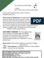 Oct 7th 2012 Bulletin