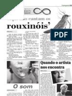 """CAIXA BAIXA - Jornal Contraponto de 08/10/2012 - Roberto Denser in """"Aqui não cantam os rouxinóis""""."""