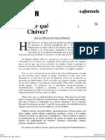 La Jornada  ¿Por qué Chávez