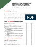 AfL Sourcesheet Explanation