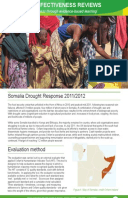 Effectiveness Review: Somalia Drought Response 2011/12