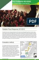 Effectiveness Review: Pakistan Flood Response 2011/12