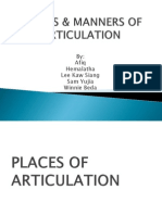 Place & Manner of Articulation Hema