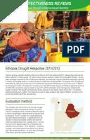 Effectiveness Review: Ethiopia Drought Response 2011/12