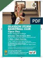 Glasgow Storm U12/U14 Flyer