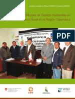 TRANSFERENCIA DE MODELO DE GESTIÓN SOSTENIBLE EN AGUA Y SANEAMIENTO RURAL EN LA REGIÓN CAJAMARCA
