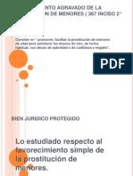 FAVORECIMIENTO AGRAVADO DE LA PROSTITUCIÓN DE MENORES (