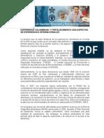 Experiencia Colombiana y Fortalecimiento Con Aspectos de Experiencias Internacionales