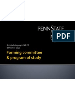 Slides about Doctoral Committees & Programs of Study