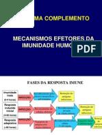 Aula 4 - Sistema Complemento Mecanismos Efetores Da Imunidade Humoral