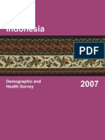 Demographic and Health Survey Indonesia 2007