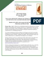 Press Release- CCBC Winona- 10-9-12