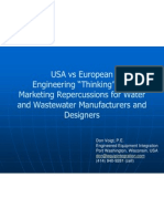 DV 2012 Presentation - European vs USA Water and Wastewater Technology