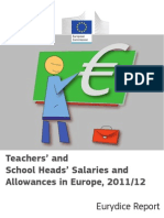 Eurydice 2012_teachers and School Heads Salaries and Allowances in Europe, 2011 - 2012 [Report]