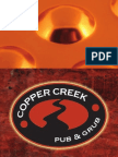 Copper Creek Menu