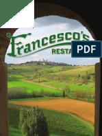 Francesco's Menu