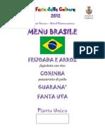 Menu Brasile