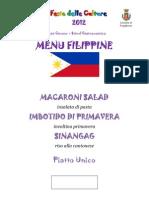 Menu Filippine