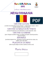 Menu Romania (Amici)