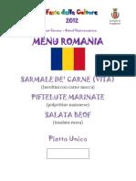 Menu Romania (Rosia)