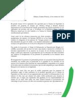 Carta a Senadores y Senadoras para Ampliar los permisos de paternidad  en la Reforma Laboral