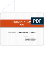 Presentation on Hotel Management System