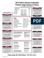 2012-2013 PHS Waco