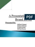 A Presentation on Brand Levels