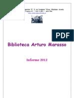 Biblioteca Arturo Marasso - Informe 2012
