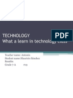 Exam of Technology