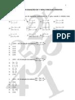 Lista de Exercicios Sistemas Lineares Do 1 Grau