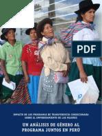 Un Analisis de Genero Al Programa Juntos en Peru