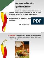 Terminos gastronomicos