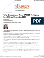 Total Employment Rises to Highest Level