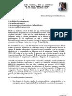 Comunicado 091012 sobre anuncio de libertad de Francisco y Eric presos políticos de la CNPA MN.