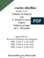 Oracles sibyllins Bouché-Leclercq 1883 RHR