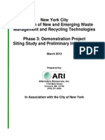 New York City Study of Potential WTE sites