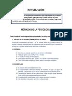 IMFORME DE MÉTODOS DE LA PSICOLOGÍA