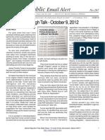267 - A Teri Hinkle Tough Talk - October 9, 2012