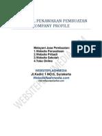 Proposal Penawaran Pembuatan Company Profile